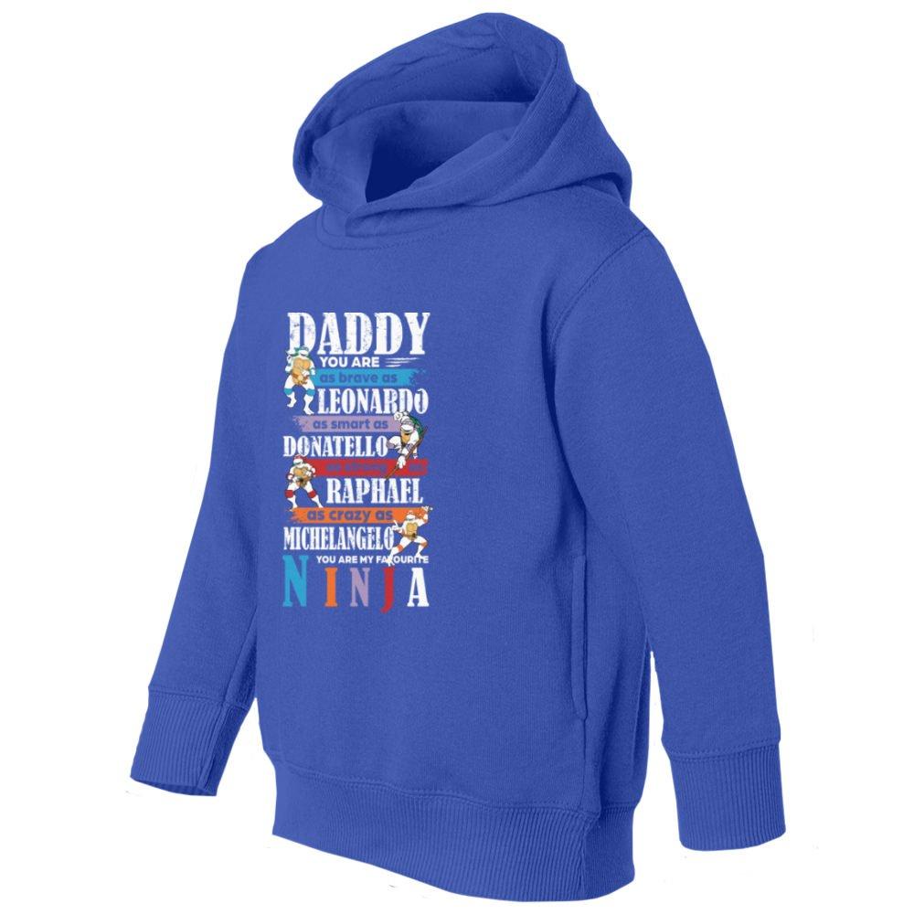 RIVEBELLA Daddy Ninja Fathers Day Little Kids Girls Boys Toddler Hooded Sweatshirt