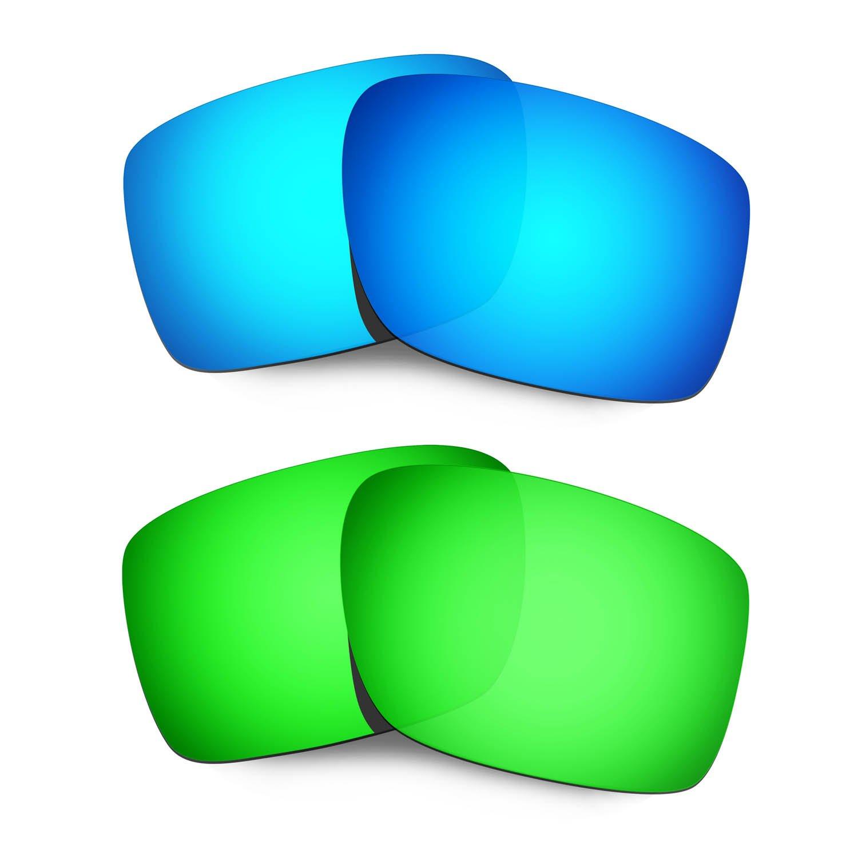 a3413c0ff2 Hkuco Mens Replacement Lenses for Oakley Double Edge Sunglasses Blue  Black  Polarized HKUCO INC