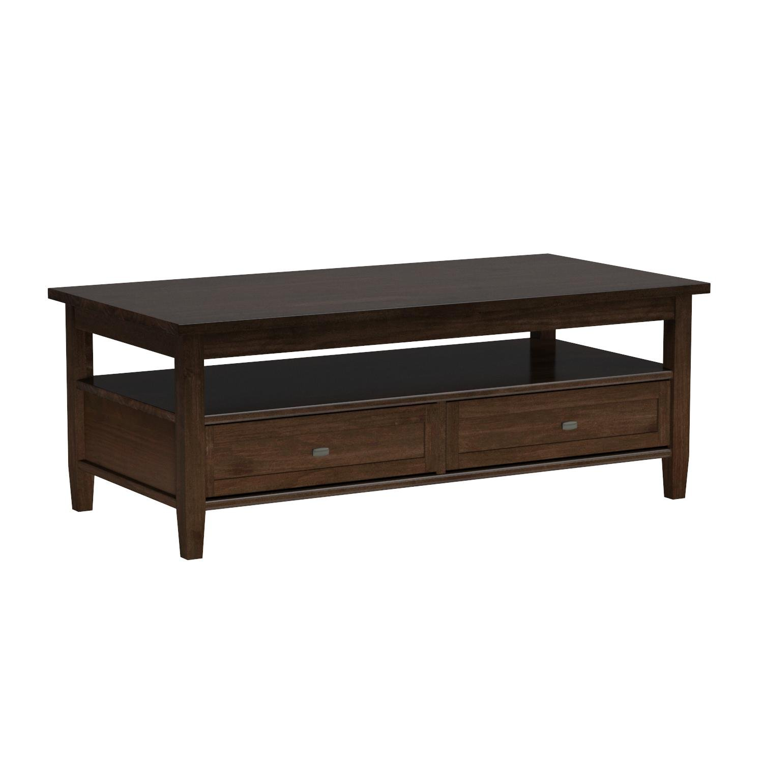 Simpli Home Warm Shaker Solid Wood Coffee Table, Tobacco Brown by Simpli Home (Image #7)