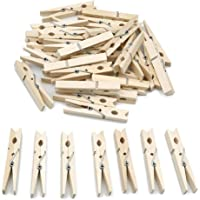 jijAcraft Wooden Clothespins 100 Pcs,Wooden Clips 2.8 x 0.5 inches,Clothespins Bulk Laundry Pins for Hanging Clothing…