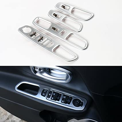 Carbon Fiber Window Switch Lock Cover Trim For Ford Mustang 2015 2016 2017 2018