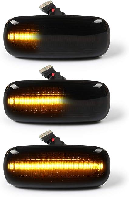 Oz Lampe Led Dynamische Led Seitenblinker Blinker 2 X Bernstein 18 Smd Mit Nicht Polarität Can Bus Fehlerfrei Oe Buchse Rauch Für Aud I A2 A3 A4 A6 A8 Tt 8n Auto