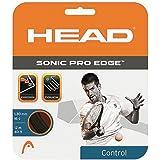 HEAD Sonic Pro Edge Tennis String Set, 17g, Black