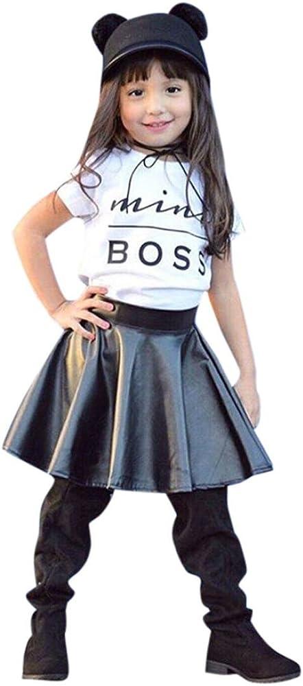 Ropa fijó la ropa para niñas OverDose letra niñas camiseta + falda ...