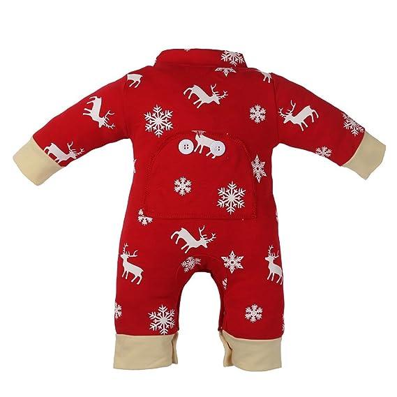 Ropa Para Niños, Logobeing Bebé Recién Nacido Ropa Interior Estampado Mameluco Ropa de Navidad Conjunto