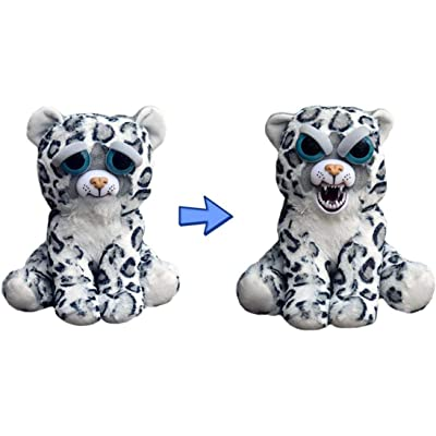 """Feisty Pets: Lethal Lena- 8.5"""" Plush Stuffed Snow Leopard That Turns Feisty with a Squeeze: Toys & Games"""