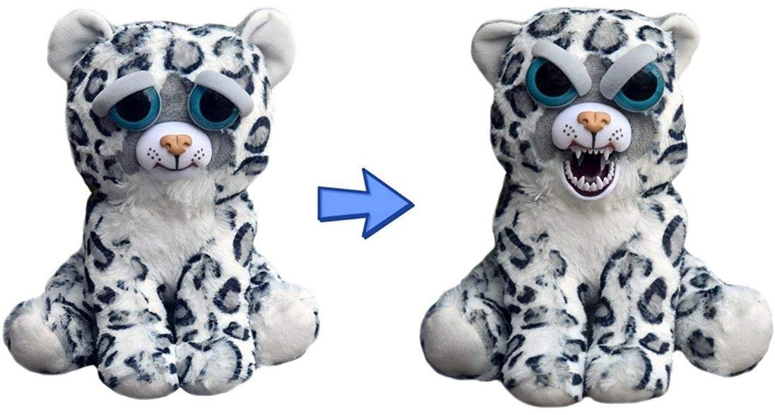 Feisty Pets: Lethal Lena- 8.5'' Plush Stuffed Snow Leopard That Turns Feisty with a Squeeze by Feisty Pets
