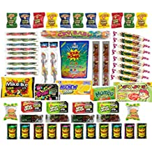 Ultimate Sour Candy Variety Pack- 60 Packages Of Sour Candy Featuring Warheads, Toxic Waste, Cry Baby Bubble Gum, Sour Patch Kids & Much More!