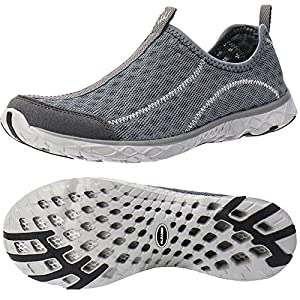 ALEADER Women's Slip On Aqua Water Shoe Dark Grey 5.5 D(M) US
