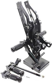 For HONDA GROM MSX125 2012-2015 Rearsets Foot pegs Rear Set Black CNC Adjusting
