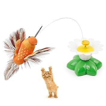 Juguete giratorio eléctrico de mariposas interactivas para gato con mariposas al azar, juguete de persecución para gatos y gatitos: Amazon.es: Productos ...