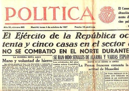 POLITICA. AÑO III. N. 663. 4-OCTUBRE-1937.: PERIODICO ...