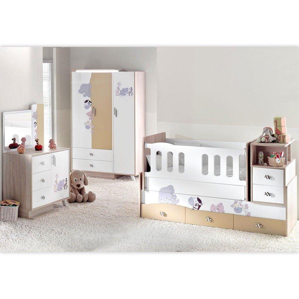 Mitwachsendes Komplett Babyzimmer Safari Mit 3 Turigem Kl Led