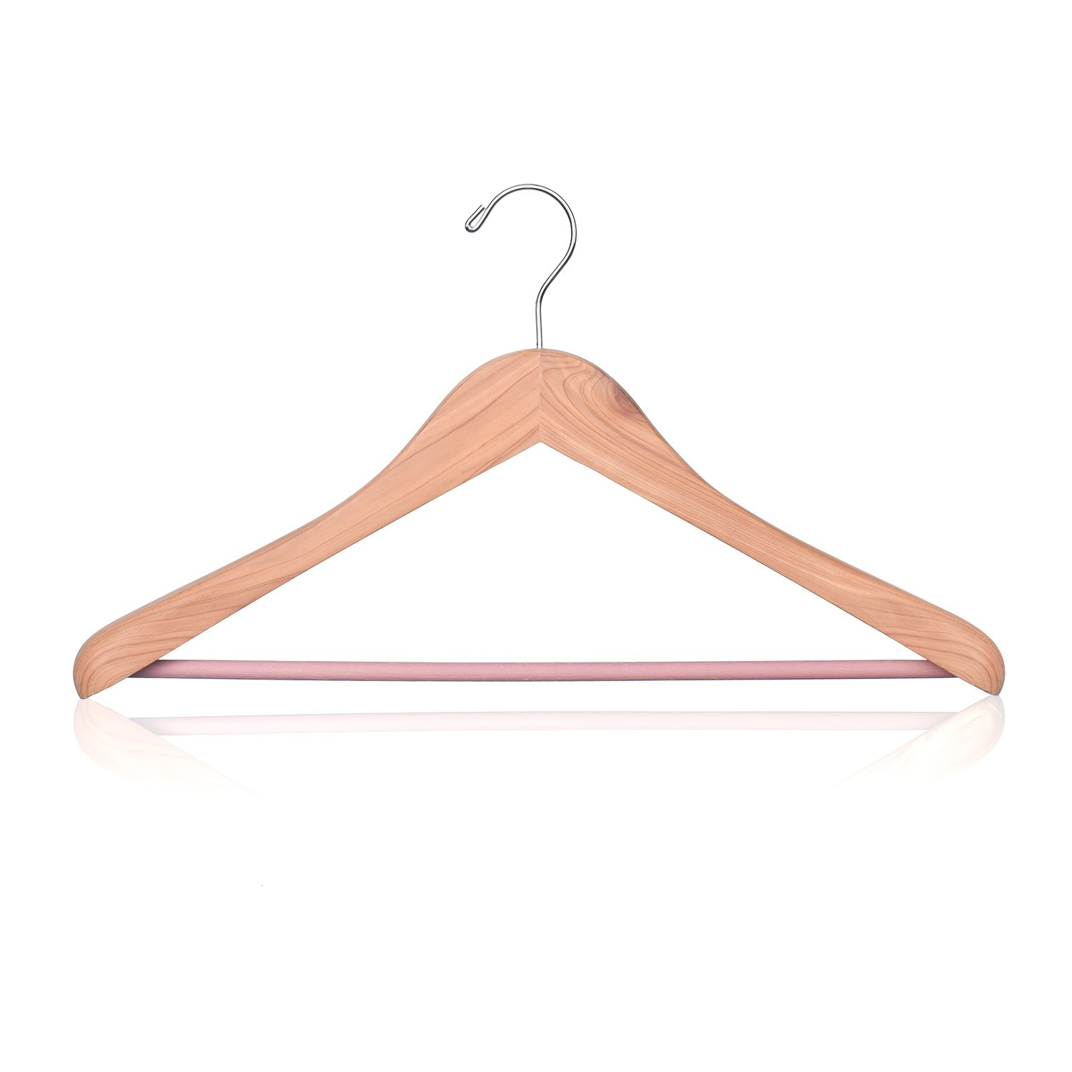 House Day Cedar Wooden Hangers Natural Fragrance Wide Shoulder Wooden Clothes Coat Hangers Natural Finish Precisely Cut Notches for Suit Jeans 1-Pack 2310711NA10