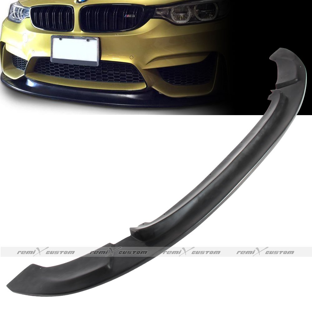 Remix Custom PU Lip For 2015 2016 2017 BMW F80 M3 / F82 M4 GT style Front Body PU Bumper Lip Kit Spoiler