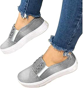 06be201cdcb69 FIRENGOLI Women's Casual Sneakers Slip On Canvas Loafer ...