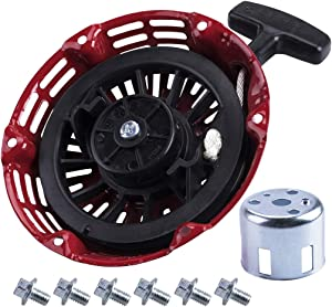 OTOHANS AUTOMOTIVE Recoil Starter with Start Cup Fit Honda GX120 GX160 GX200 Pull Starter (Steel Rod Paws) Engine 4/5.5/6.5hp Motor Replace # 28400-ZE1-003ZF 28400-ZH8-013YA