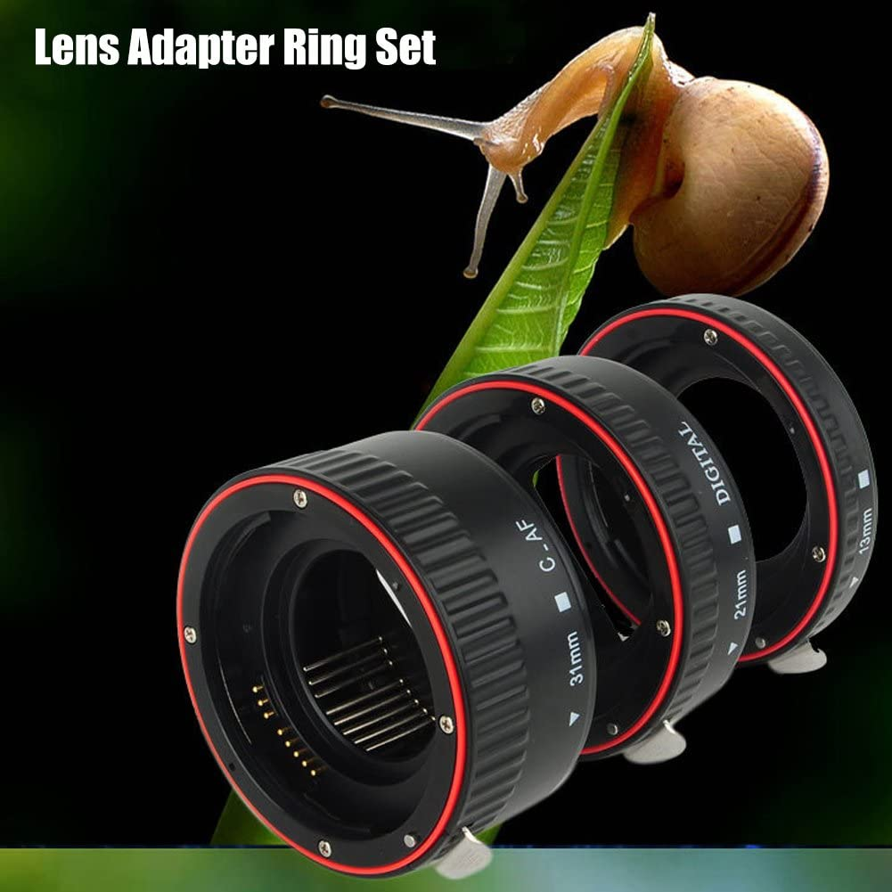 Lens Adapter Rings Set,Lightweight Durable Metal Auto Focusing Macro Extension Lens Adapter Close-Up Lens Rings Set,Suitable for Canon Cameras with EF Mount