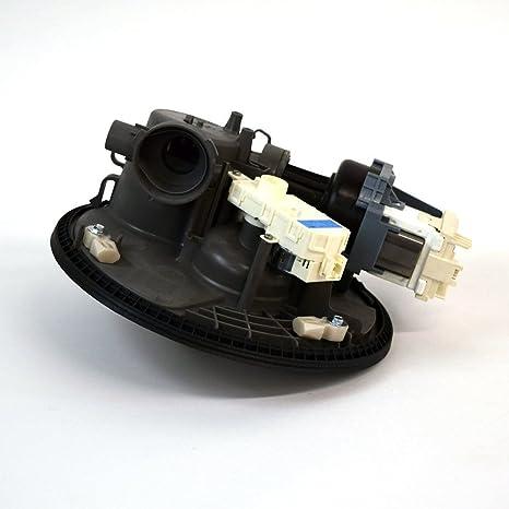 KitchenAid W10605057 Whirlpool Dishwasher Pump and Motor Assembly, Black