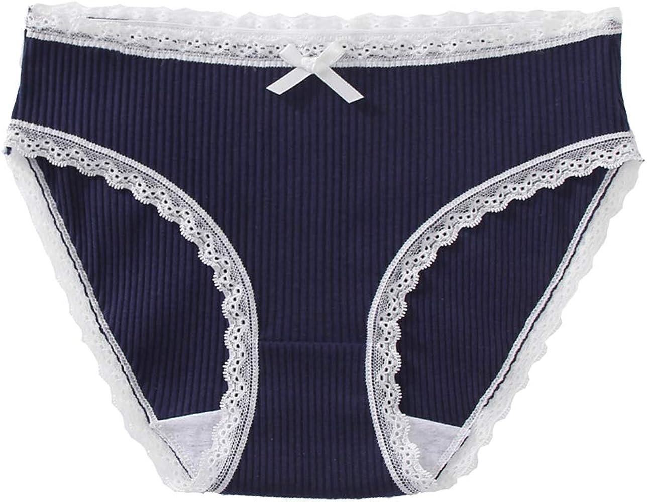 Puimentiua Ropa Interior y Lencería Bragitas de Algodón para Mujer de M-XL Tamaño Bragas de Cintura Media Cómodo Calzoncillo Bikini: Amazon.es: Ropa y accesorios