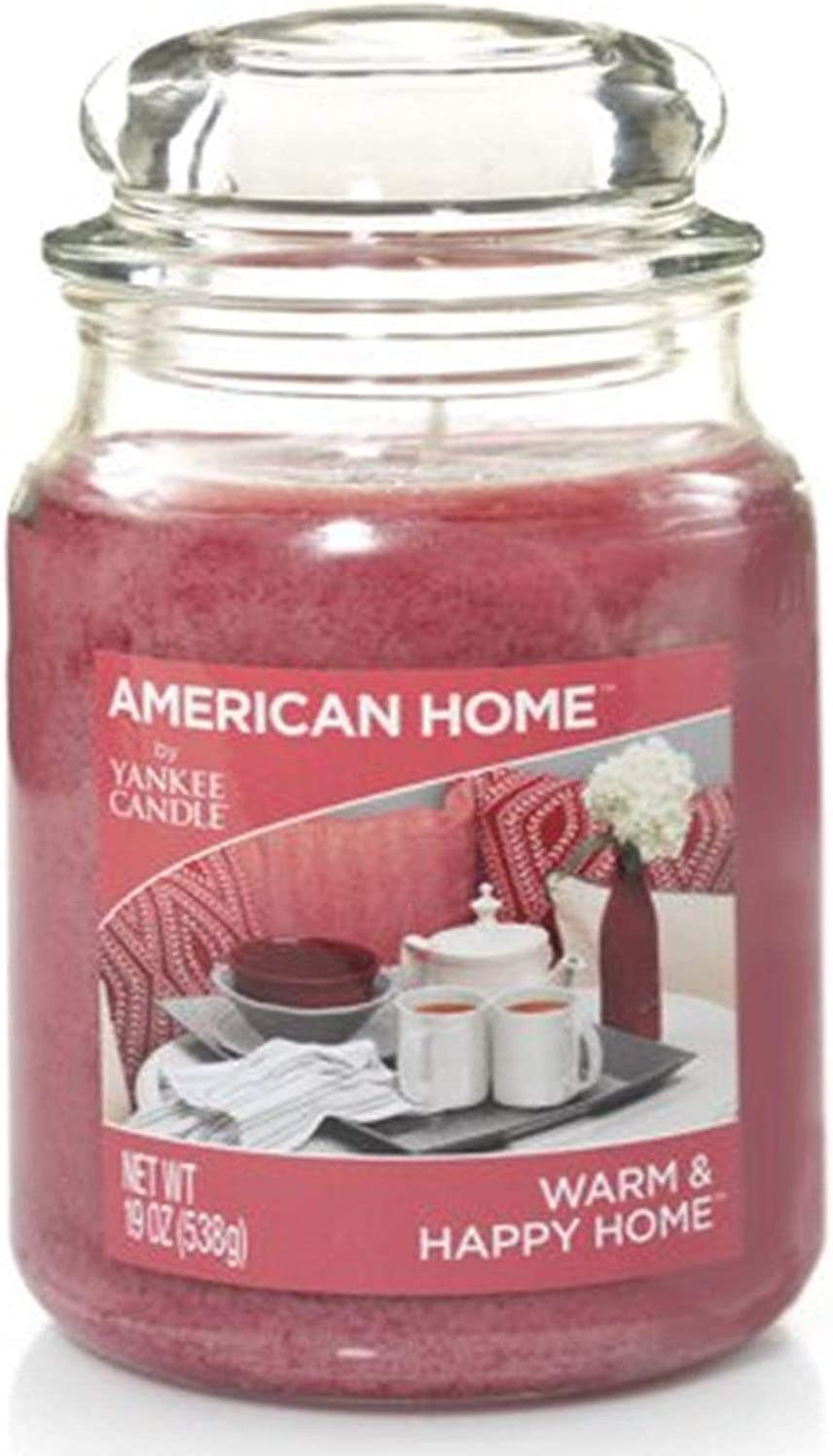 Yankee Candle 241483 Scented Fragrance Candles American Collection Luxury Classic Large 19oz Glass Jar 538g[Warm & Happy Home], Youth 11-13, Purple