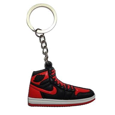 Air Jordan 1 Keyring   Keychain - Bred  Amazon.co.uk  Clothing ed7a974f9