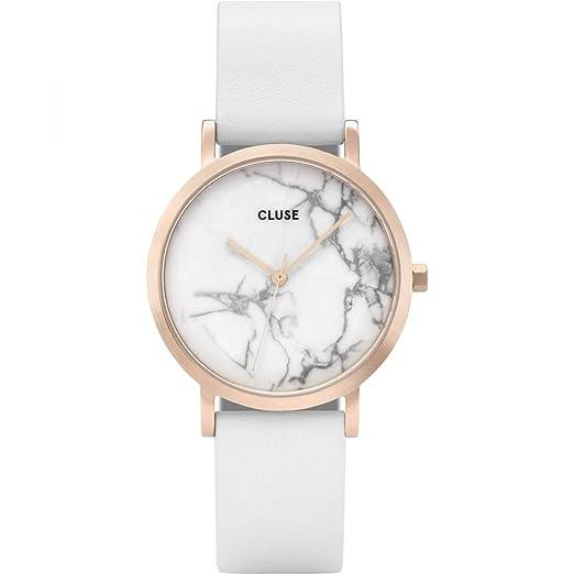 Cluse Reloj Analógico para Mujer de Cuarzo con Correa en Cuero CL40110: Amazon.es: Relojes