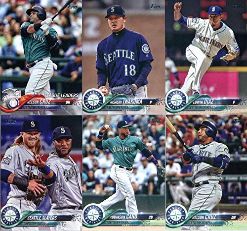 Seattle Mariners 2018 Topps Complete Mint Hand Collated 21 Card Team Set with Felix Hernandez and Nelson Cruz Plus