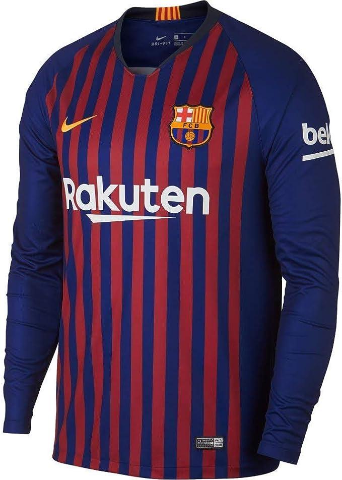 Nike FC Barcelona Stadium Home Men's Long Sleeve Soccer Jersey 2018/19