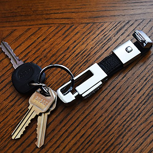 Key Ring Key Holder Latch Secure Detachable Keychain JessicaAlba Elegant Leather Valet Key Chain