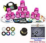 Speed Stacks Combo Set ''The Works'': 12 ZIPPY LEOPARD 4'' Cups, RAINBOW DROP Gen 3 Mat, G4 Pro Timer, Cup Keeper, Stem, Gear Bag + Active Energy Necklace