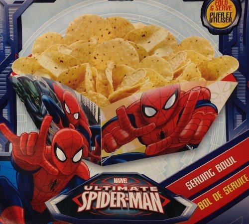 (Spiderman Marvel ULTIMATE SPIDER-MAN Party Fold & Serve SERVING BOWL (10 Inch))