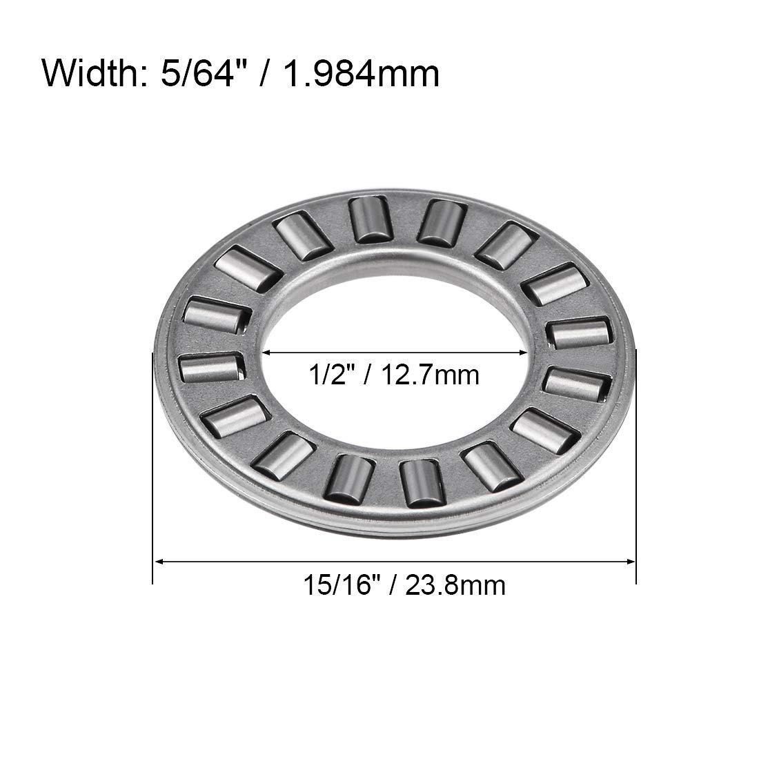 Rodillo de aguja y ensamblaje de empuje de jaula 2 Pack NTA815 1 Sourcingmap Imperial