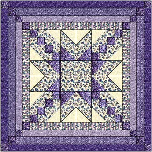 Quilt Kit Elegant Star/Purple Passion/Pre Cut Ready to Sew/QN by Material Maven