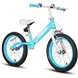 """JOYSTAR 16"""" Balance Bike for Big Kids 5, 6, 7, 8 and 9 Years Old with Rubber Tire and Adjustable Seat and Front Hand Brake, B"""