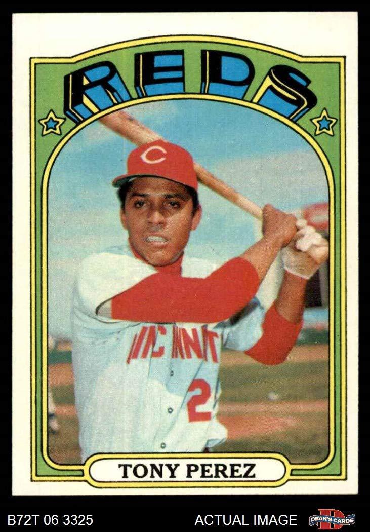 1972 Topps Baseball 80 Tony Perez Cincinnati Reds Excellent