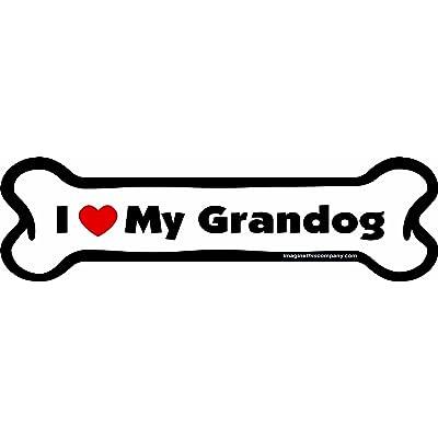 Imagine This I love My Grandog Bone Car Magnet, 2-Inch by 7-Inch: Pet Supplies