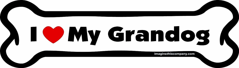 Imagine This I love My Grandog Bone Car Magnet 2-Inch by 7-Inch Imagine This Company B0119