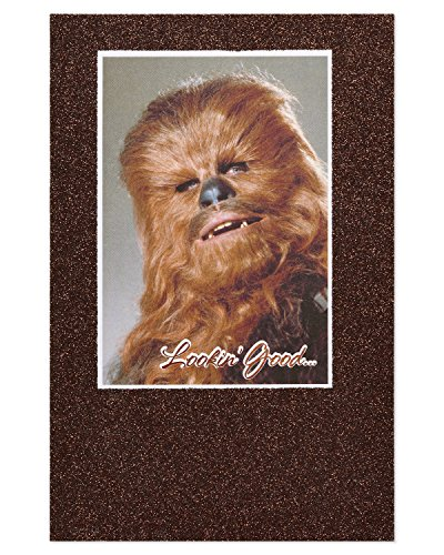(American Greetings Funny Chewbacca Star Wars Birthday Card with)