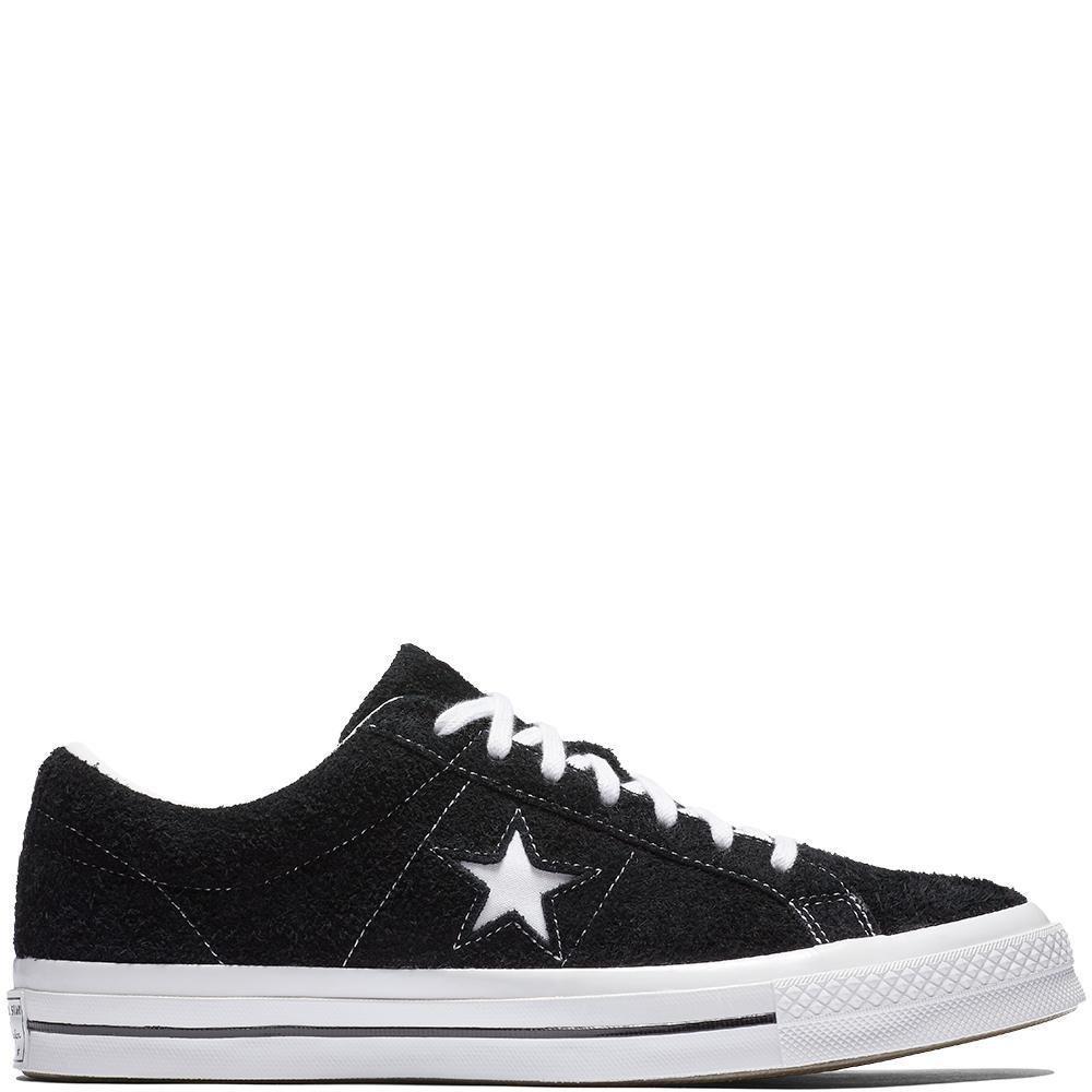 Converse Lifestyle One Star Ox, Zapatillas Unisex Adulto 38 EU|Negro (Black/White/White 001)