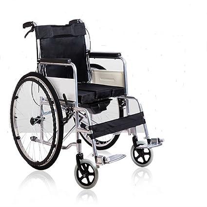 Wefun plegable Silla de ruedas de aluminio ligero plegable ...