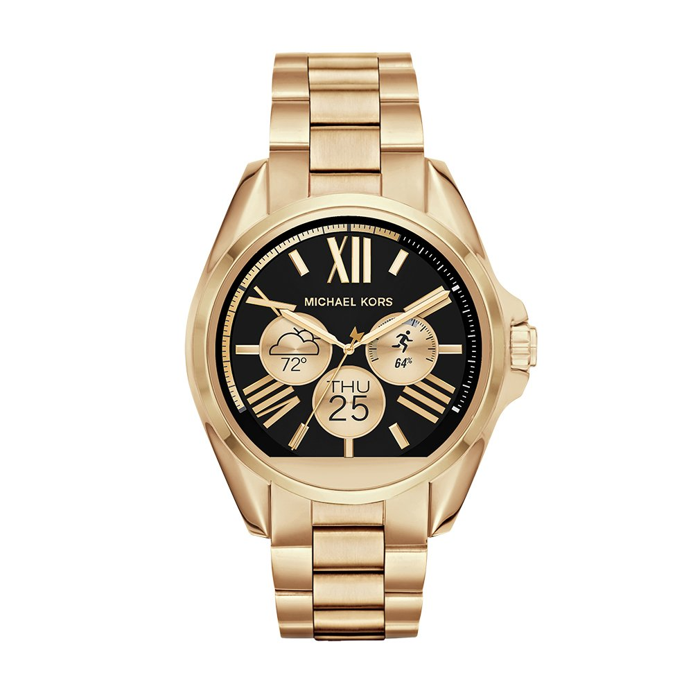 Amazon.com  Michael Kors Access, Women s Smartwatch, Bradshaw Gold-Tone  Stainless Steel, MKT5001  Watches c713628bc1