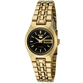 f43a8cbc6a4 Image Unavailable. Image not available for. Color  Seiko Women s SYMA06K Seiko  5 Automatic Black ...