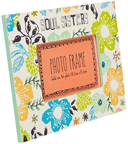 C.R. Gibson Soul Sisters Tabletop Photo Frame, 4 by 6-Inch by C.R. Gibson