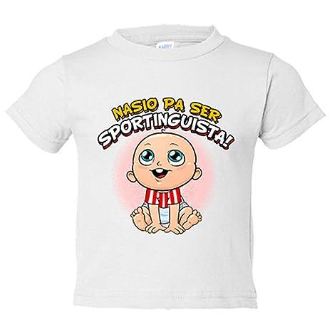 Camiseta niño nacido para ser Sportinguista Sporting fútbol - Blanco, 3-4 años
