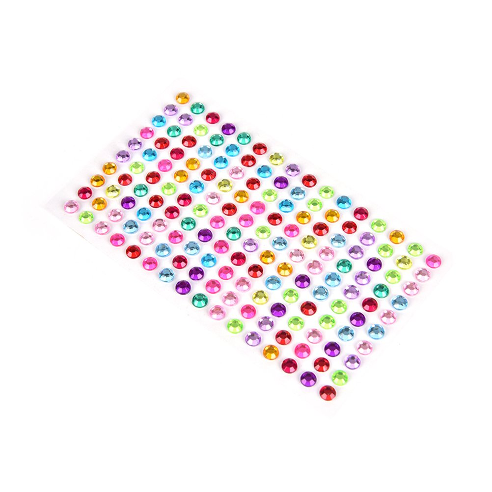 1 Sheet Self-adhesive Rhinestone Sticker Bling Craft Jewels Crystal Gem Stickers by Wetrys Clarity Deal