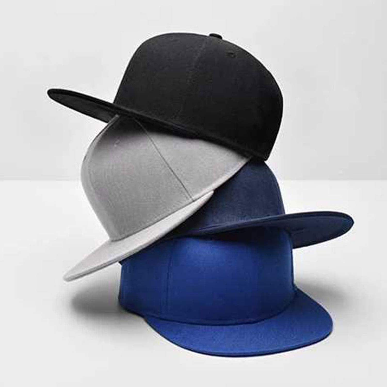 Unisex Solid Color Patch Baseball Cap Hip Hop Caps Leather Sun Hat Snapback Sport Travel Casual Caps