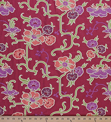 Velvet Vine - Cotton Amy Butler Gypsy Caravan-Velvet Vine Cotton Fabric Print by the Yard PWAB089 Grape