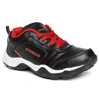 89a1b961e PARAGON Stimulus Men's Black & Red Sports Shoes: Buy Online at Low ...