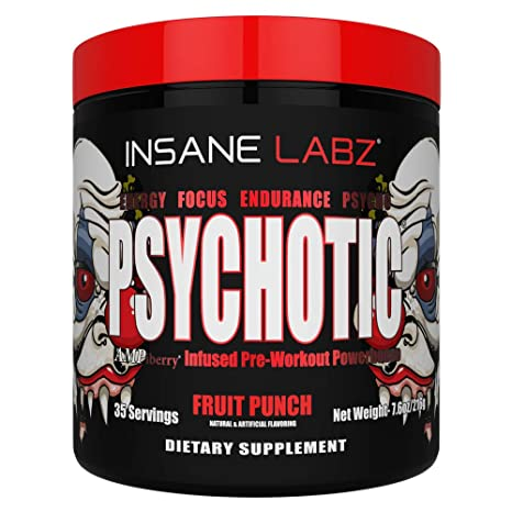 Insane Labz Psychotic – 35 Servings (216g) (Fruit Punch)